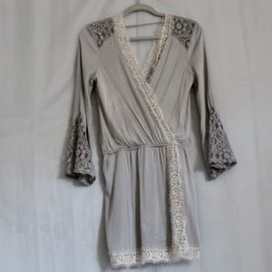 Young fabulous and broke Linen Lace Dress